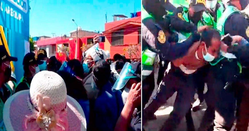 Arequipa: Se registro disturbio en puntos de vacunación