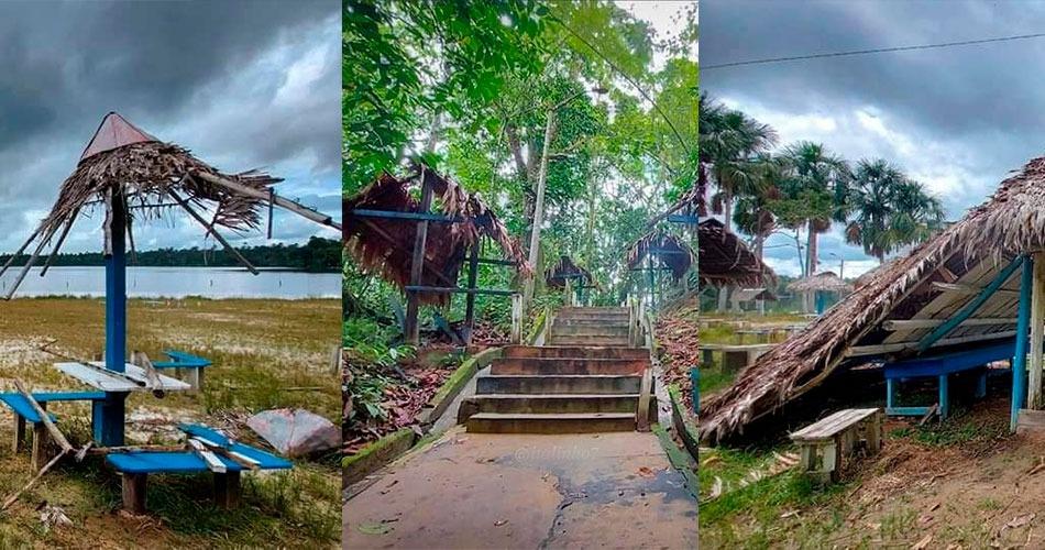 Complejo turístico Quistococha en completo abandono