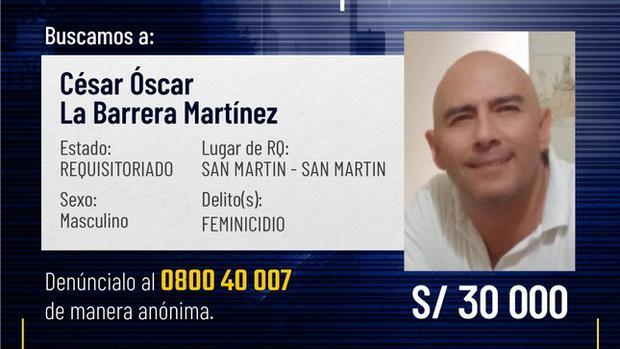 Dictan 9 meses de prisión preventiva para presunto feminicida en Tarapoto
