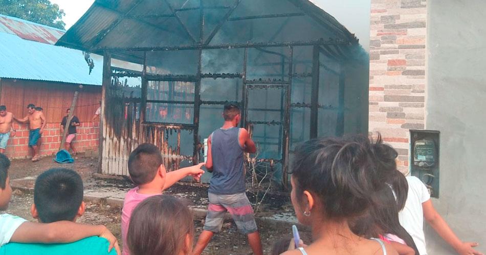 Incendio provoca la muerte de un joven discapacitado