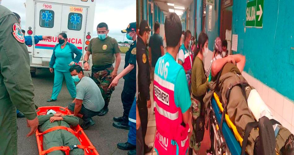 Policías sobreviven tras una caída de avioneta en el aeropuerto